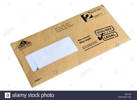 envelope  uk dvla stock photo royalty  image