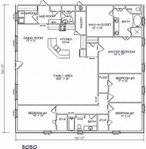 barndominium floor plan 50x50 barndominium plans pinterest With 50x50 steel building