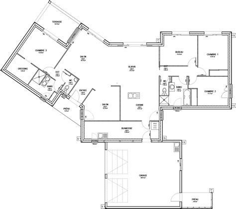 plan maison 4 chambres etage plan maison etage 4 chambres 1 bureau plan