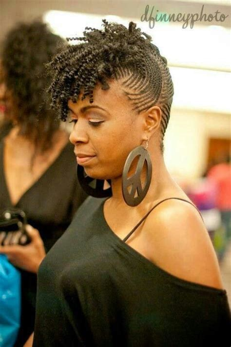 micro flat twist side swept hawk hairstyles to try