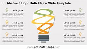 Abstract Bulb Idea Diagram For Powerpoint And Google Slides