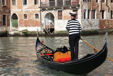 Venice Gondola Or Boat by Po River By Bike Boat From Venice