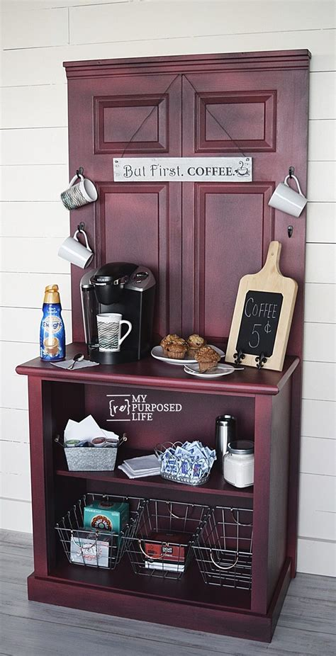white dresser with hutch coffee station cabinet repurposed door and dresser my