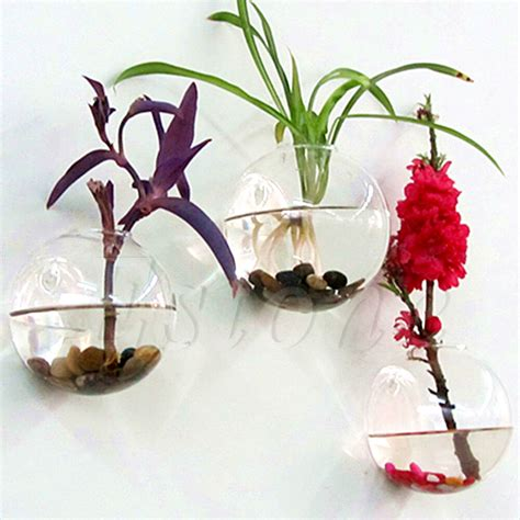 Flower Vase - wall hang glass flower planter vase terrarium container