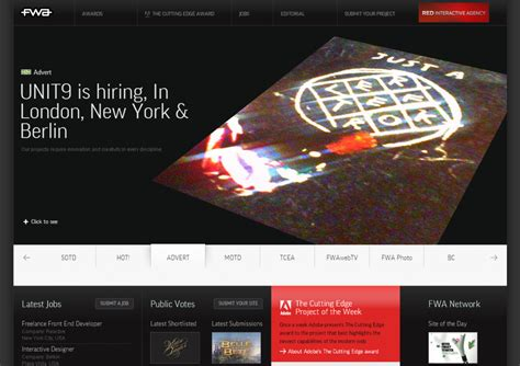 Best Site Awards Thefwa Top Interactive Agencies