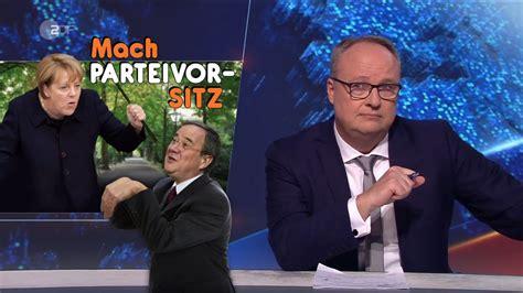"""Wo und um wie viel uhr kann ich es ankucken? heute-show zur Merkel-Nachfolge: """"Ein Mann als ..."""