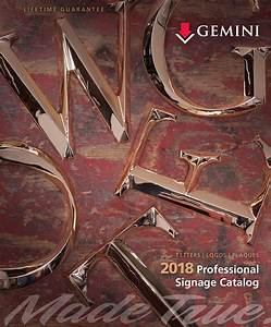 new 2018 professional signage catalog now available from With gemini letters wholesale