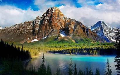 Mountains Lake Foggy Hidden Nature Wallpapers Mountain