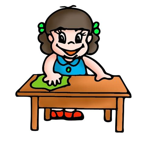cleaning houses under the table children cleaning clipart cliparting com