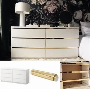 Ikea Möbel Individualisieren : mit goldfolie wirkt die kommode gleich viel individueller m bel aufw rten pinterest ~ Watch28wear.com Haus und Dekorationen