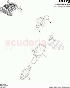 Aston Martin 8g43-12a366-aa  Ignition Coil And Boot  Three Pin