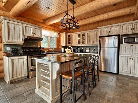 cuisine maison bois eider au chalet en bois rond