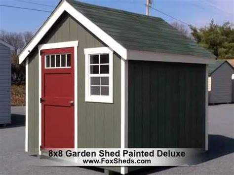8x8 sheds 8x8 garden shed painted deluxe series