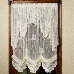 Country Swag Curtains For Living Room by Garland Lace Balloon Shades