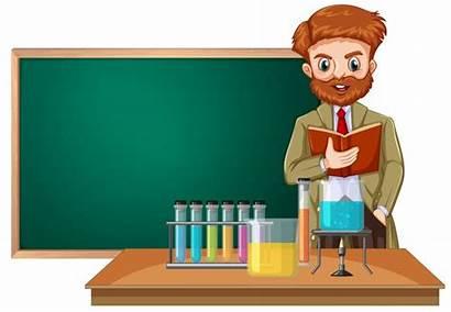 Teacher Science Classroom Vector Illustration Clipart Illustrations