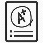 Exam Icon Test Result Grade Examination Level