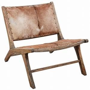 Fauteuil En Bois : fauteuil en bois et peau de ch vre ~ Teatrodelosmanantiales.com Idées de Décoration