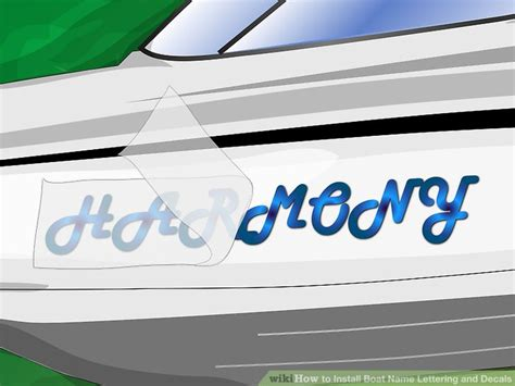 How To Put Boat Decals On by How To Install Boat Name Lettering And Decals 11 Steps