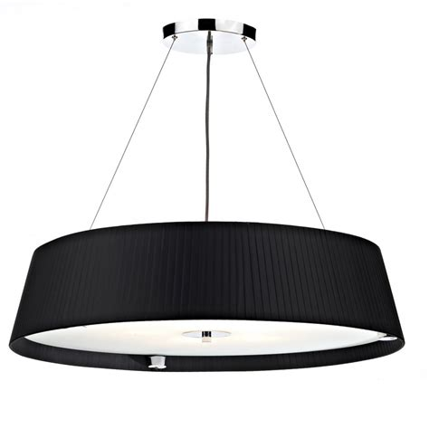 modern black ceiling pendant light suspended on wires