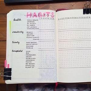 bullet journal habit trackers productive pretty