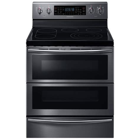 samsung nejwg  electric double oven freestanding smooth top range