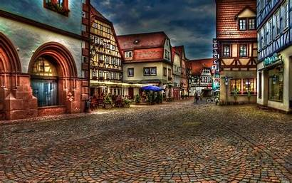 Cities Street Town Cobblestone Wallpapers Village Hdr