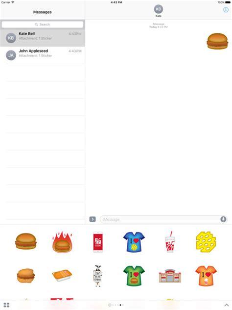 m騁ier cuisine app shopper fil a stickers food drink