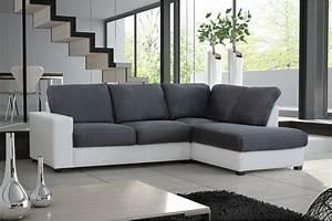 canape d39angle cuir couleur gris univers canape With tapis design avec canapé d angle convertible maria couleur gris