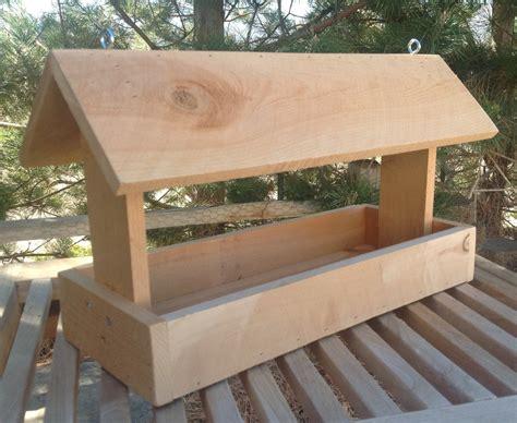 cedar wood bird feeder