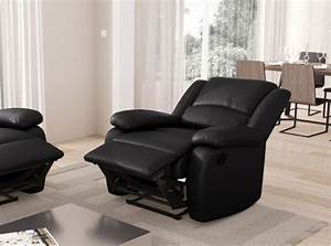 fauteuil relaxation 1 place simili cuir detente usinestreet With fauteuil design relax cuir