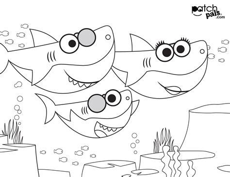 baby shark coloring pages arenda stroy