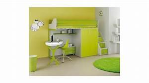 Lit Mezzanine Pour Enfant : chambre enfant avec lit mezzanine bureau moretti compact so nuit ~ Teatrodelosmanantiales.com Idées de Décoration