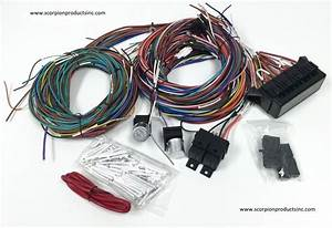 20 Circuit Wiring Harness Street Rod Rat Rod Custom