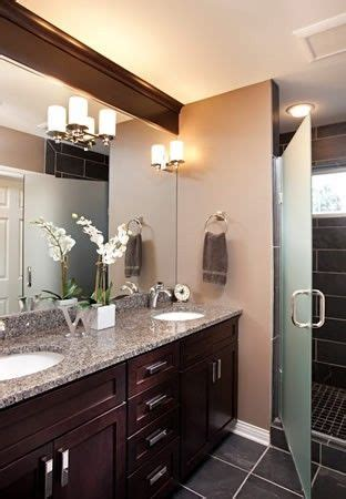 warm color scheme bathroom   pop  light
