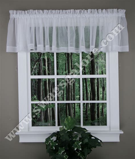 elegance sheer valance white stylemaster kitchen valances