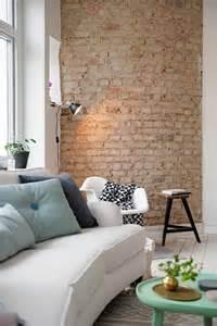 stein tapete wohnzimmer ideen backstein tapete schicke rustikale akzente in der modernen wohnung