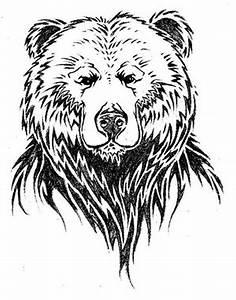 Simple design of bear face tattoo - Tattoos Book - 65.000 ...