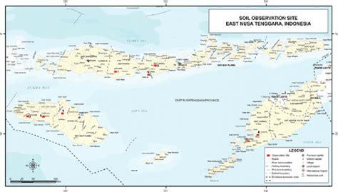 site location map  east nusa tenggara ntt province