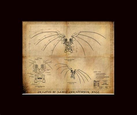Davincis Wings Steampunk Blueprints