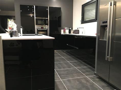 cuisine avec frigo americain integre cuisine et blanche cuisines habitat