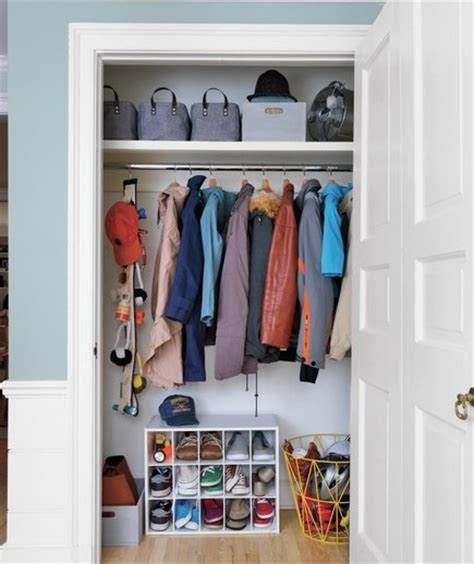 all hail the closet organize the entryway real simple