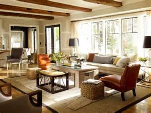 Tuscan Style Area Rugs by Living Rooms With Beams That Will Inspire
