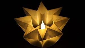 Sterne Aus Papier Falten : basteln zu weihnachten einfache stern windlichter falten aus papier youtube ~ Buech-reservation.com Haus und Dekorationen