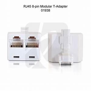 Rj45 Connection Splitter  U0026 Combiner For Phone  U0026 Ethernet