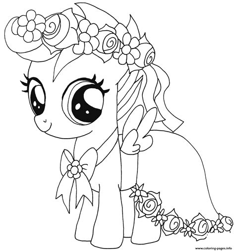 Baby Scootaloo My Little Pony Coloring Pages Printable