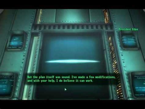 Fallout 3 President Eden Quotes