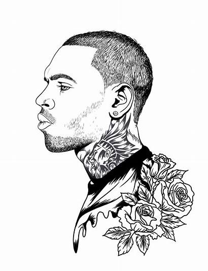 Chris Brown Portrait Drawing Digitial Illustration Digital