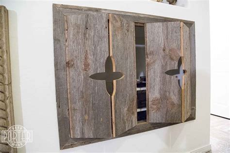 Porter Barn Wood: Custom Bi fold Entertainment Cabinet Doors