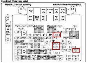 2003 Chevy Silverado Fuse Box Diagram