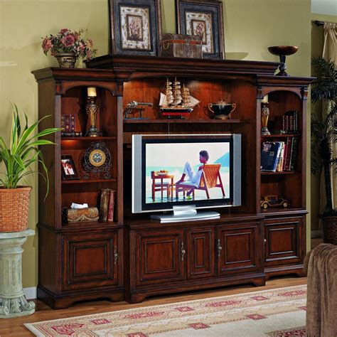 entertainment center with interchangeable wood glass doors
